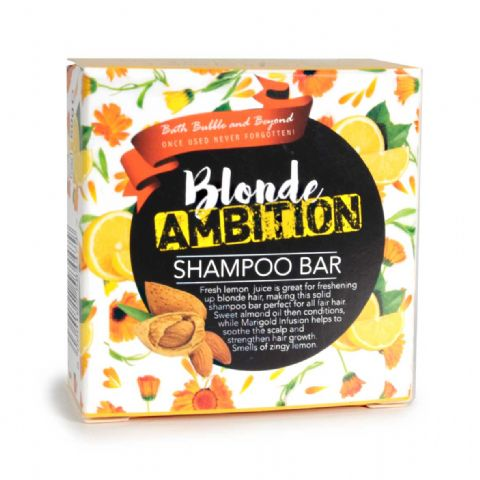 BLONDE AMITION White Rhubarb Fair Hair Shampoo Bars - Bath Bubble & Beyond 50g